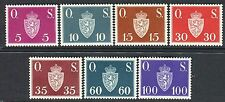 NORWAY 1951/52 OFFICIAL STAMPS/COAT of ARMS/GOLDEN LION/AXE/CROWN MNH