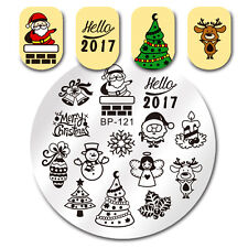 BORN PRETTY Nail Art Stamp Image Plate Merry Christmas Theme DIY Manicure BP-121