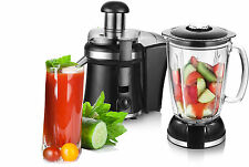 2in1 Smoothie Maker Mixer Glas Standmixer + Saftpresse Enstafter Power Juicer
