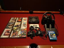 Sega Saturn Game Counsel LOT 11 Games x2 Controllers , Steering Wheel  xtras