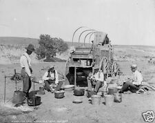 Chuckwagon Texas, Camp Wagon on a Round Up 1900, 6.5x5 Inch Reprint Photo