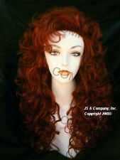 Amazing FULL WAVY COPPER RED WIG WIGS JSCR 130