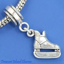 ICE HOCKEY SKATE .925 Solid Sterling Silver EUROPEAN EURO Dangle Bead Charm