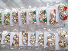 Joblot of 24 Pairs Glass Crystal & Diamante Stud Earrings - NEW Wholesale lot 3