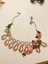 Christian Dior Girly Necklace With Flowers $1400