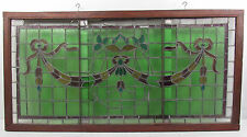 Large Vintage American Candy Store Stained Glass Window (2375)NJ