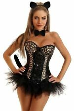 Sexy Halloween Daisy Corsets 5 PC Sexy Pin-Up Leopard Women's Exotic Costume Cat
