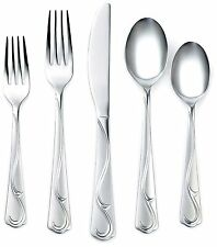 Corelle coordinates eloise frost 20PC flatware set 18/0 paypal free shipping