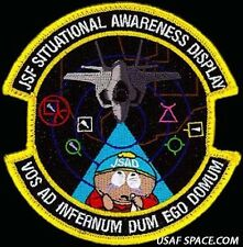 USAF 461st FLTS JSF Situational Awareness Disaplay South Park ORIGINAL PATCH