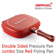 Happycall Double Sided Pan Big Size Pressure Jumbo Red Frying Pan Happy call