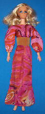 Vintage AO Live Action Blonde Barbie Doll #1155 BL Fringe Mod Outfit 1970