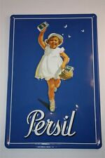 3D metal sign 20x30 cm Persil child with basket tin sign metal enamel