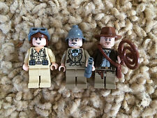 3 Lego Indiana Jones Minfigures Plane Pilot Henry Sr. Grandpa Lot 3 7628 7198