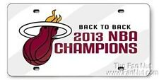 Miami Heat 2013 Champions Deluxe Laser Cut Mirrored License Plate Tag Basketball