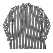 ISSEY MIYAKE MEN Cotton Stripe Long Sleeves Shirt Size M(K-43049)