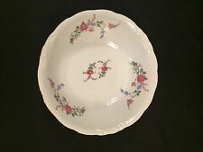 Wawel China Rose Garden 9 Inch Round Serving Bowl Gold Rim Made In Poland