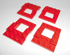 Lego (4211) 4 Fahrgestelle 4x5, in rot aus 6337 7241 4564 6594 6338 4537