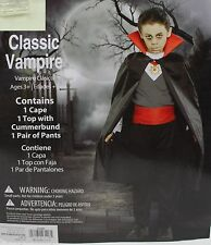Halloween Boys Classic Vampire Costume Size Medium 8 NIP
