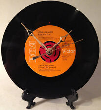 "Recycled JOHN DENVER 7"" Record / Take Me Home, Country Roads / Record Clock"