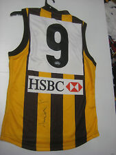 SHANE CRAWFORD HAND SIGNED #9 HOME JERSEY UNFRAMED + PHOTO PROOF + C.O.A