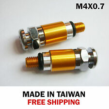 Fork Bleeder Relief Valve, M4 x 0.7, Color Gold + Free shipping