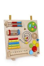 Wooden Motor Activity Baby Sensory Board Hand Eye Coordination Stimulating Toy
