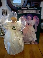Large Electric Fiber Optic Tree-topper or tablepiece Angel.  in box