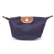 Longchamp Coin Case Le Pliage Mini Zip Purple Bilberry Coin Purse Authentic New