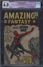 Amazing Fantasy # 15 - First App of Spider-Man CGC-R 6.0 OW/White Pages