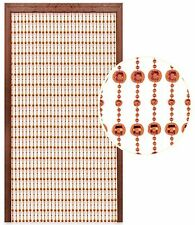 Hanging Beaded Door Curtain Brown 80x180cm Glamorous Disco Ball Home Decor New
