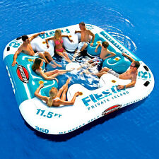 Floating ISLAND Raft Inflatable Party Boat Water Giant Heavy-Duty PVC Large Pool