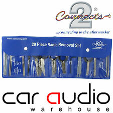 20 Pc Wallet Universal Car Stereo Radio Removal Extraction Release Keys CT22UV03