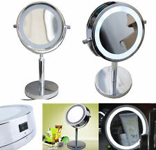 Double-Sided LED Lighted Vanity Cosmetic Makeup Mirror Normal and 5x Magnifying