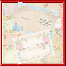 A5 LUXURY FLORAL BORDER LESS BIRTHDAY INSERTS (PACK OF 40)4 0F EACH)MAY 2016