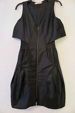 Mischen Black Zip-Front Sleeveless Balloon-Bottom Dress Size 0