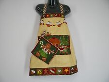 "New, Grange Ladies Aprons & pot Christmas  ""Gingerbread"" kids size ADORABLE"