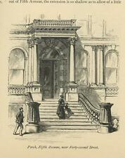 ANTIQUE GOTHIC ARCHITECTURE PORCH FIFTH AVENUE NEAR FORTY SECOND STREET PRINT