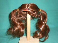 "doll wig reddish brown 9"" to 9.5"" open braids/forehead and neck curls"