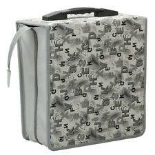 400 Disc Aluminum Letter Pattern CD DVD Storage Media Case Bag Wallet Hot Sell