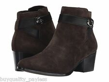 NEW Coach Patricia Ankle Boots Chestnut Suede Zip Womens 6 EXPEDITED MAIL