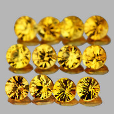 IF~1.12CTS/13pc ROUND 2.50mm DIAMOND CUT GOLDEN YELLOW SAPPHIRE NATURAL GEMSTONE