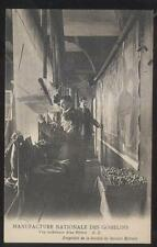 Postcard FRANCE?/SWITZERLAND?  Tapestry Weaving at Loom view 1910's