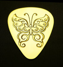 BUTTERFLY - Solid Brass Guitar Pick, Acoustic, Electric, Bass