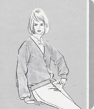 1970s AD SHEET #2804 - HARBURT ETONIC WOMENS GOLF CLOTHING - ALPACA CARDIGAN