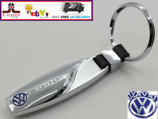 VW Key Ring Volkswagen Polo Golf Passat CC Eos Silver Crome Keyring