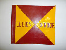 flag770 WW 2 German Legion Condor leather car pennant Richthofen Sperrle Spain