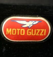 Vintage MOTO GUZZI Miniature Sign Puffy Refrigerator Magnet