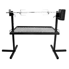 Heavy Duty Adjustable Outdoor Camping Rotisserie Grill System and Spit Kit, New