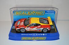 Scalextric Ferrari F430 GT 1/32 Scale Slot Car With Display Case