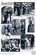 Schweizer Trachten 1 Seite mit Fotoabbildungen von 1928 Tracht Schweiz Appenzell